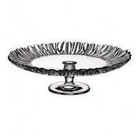 Стеклянная тарелка на ножке h-9,6см, d-31,5см