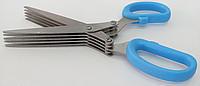 Ножницы для зелени с 5 лезвиями EM-3114 Blue