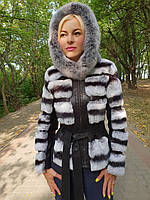 Короткая меховая куртка с капюшоном, фото 1