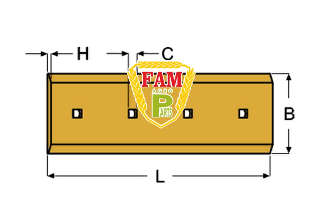 Нож ковша (режущая кромка) 1167х254х25 мм Liebherr 9033958