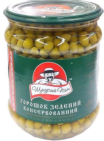 Зелений горошок 500 грам ТМ Щедрий Пан
