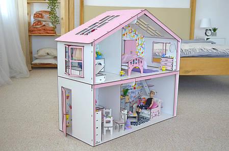Волшебный Коттедж Барби с мебелью, обоями и текстилем, фото 2
