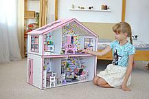 Волшебный Коттедж Барби с мебелью, обоями и текстилем, фото 3