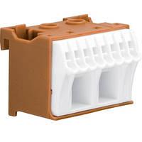 Блок фазных 10 клемм 2x16 мм2 + 8x4 мм2 Hager QiuckConnect KN10P 45мм