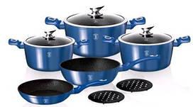 Набор посуды Berlinger Haus Metallic Line Royal Blue Edition BH-1658 N 10 пр