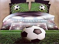 3D Постельное белье ТМ Милано рисунок футбол (Milano Zone) полуторка Польша