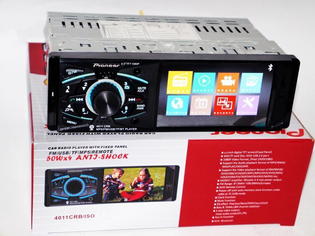Автомагнітола MP5 Pioneer 4011 CRB 4.1 екран Bluetooth Пульт на кермо