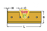 Нож ковша (режущая кромка) 863х254х25 мм Liebherr 9038314