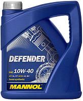 Моторное масло полусинтетическое MANNOL DEFENDER 10W-40 4л.