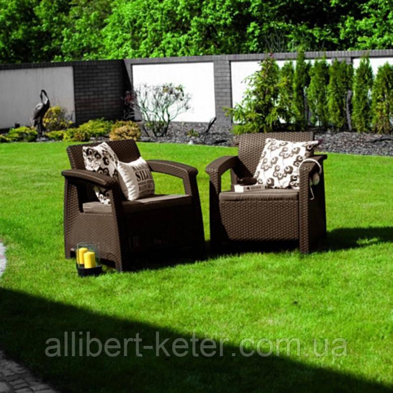 Corfu Duo Set садові меблі з штучного ротанга