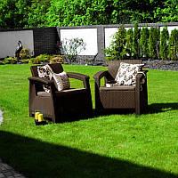 Corfu Duo Set садовая мебель из искусственного ротанга, фото 1