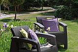 Corfu Duo Set садові меблі з штучного ротанга, фото 8