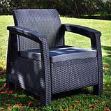 Corfu Duo Set садові меблі з штучного ротанга, фото 5