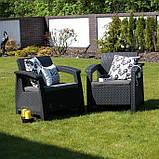 Corfu Duo Set садові меблі з штучного ротанга, фото 6