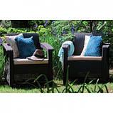 Corfu Duo Set садові меблі з штучного ротанга, фото 10