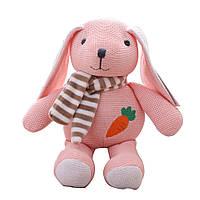 Детская мягкая игрушка Вязаный зайчик Berni