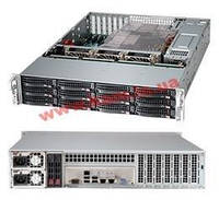 "Корпус Supermicro CSE-826BE1C-R920LPB - 2U, 2x920W, 12x3.5""HDD, Single SAS3 (1"