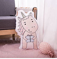 Подушка маленькая с животнными, мягкая декоративная подушка