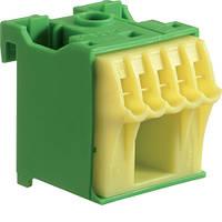 Блок PE-клемм 6 1x16 мм2 + 5x4 мм2 Hager QiuckConnect KN06E 30мм