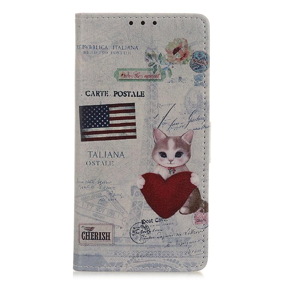 Чехол книжка для Samsung Galaxy A10s A107FD боковой с отсеком для визиток, USA Cat