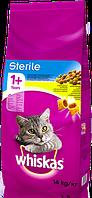 Віскас WHISKAS Смачні подушечки з курятиною для стерилізованих котів, 14 кг