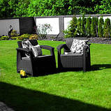 Allibert Corfu Duo Set садові меблі з штучного ротанга, фото 2