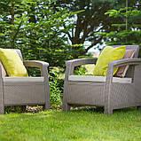 Allibert Corfu Duo Set садові меблі з штучного ротанга, фото 7