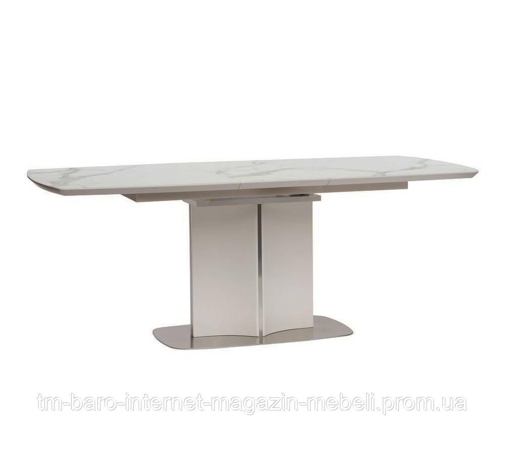 Стол обеденный Олбери белый (Albury) матовое стекло 160-200, Concepto