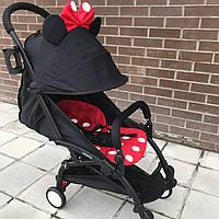 Детская коляска YOYA 175 A+ Минни Маус оксфорд (черная или белая рама)