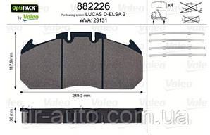 Колодки тормозные Renault Magnum ( 249,3x117,9x30 WVA 29131 ) ( VALEO ) 882226