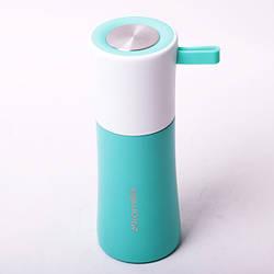 Термос для напитков Kamille 350 мл из нержавеющей стали с резиновым ремешком, маленький питьевой термос