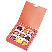 Шоколадные конфеты ручной роботы *Красная коробка на 9шт.*