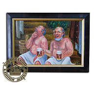 """Картина для бани """"Мужики с пивом"""""""