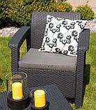 Keter Corfu Duo Set садовая мебель из искусственного ротанга, фото 6