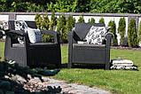 Keter Corfu Duo Set садовая мебель из искусственного ротанга, фото 5