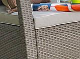 Keter Corfu Duo Set садовая мебель из искусственного ротанга, фото 8