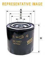 Фильтр масляный ВАЗ 2101-2107 2108-09 (низкий 72мм)  (пр-во WIX-Filtron)