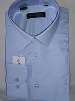 Рубашка мужская Ferrero Gizzi vd-0038 голубая однотонная классическая с длинным рукавом