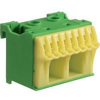 Блок PE-клемм 10 2x16 мм2 + 8x4 мм2 Hager QiuckConnect KN10E 45мм