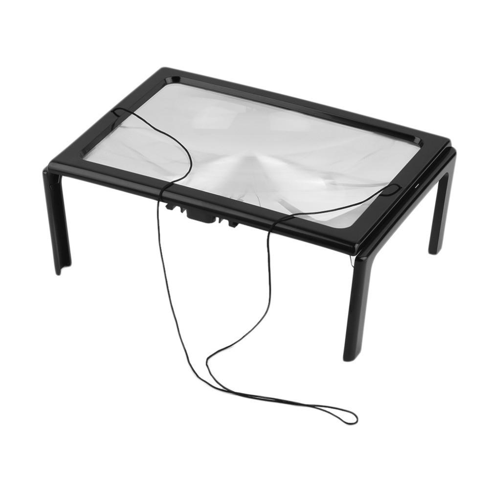 Увеличительное стекло A4 3x лупа подсветка