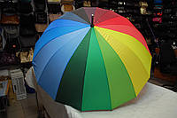 Зонт женский-трость радуга Umbrella 126S