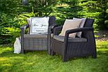 Curver Corfu Duo Set садові меблі з штучного ротанга, фото 8