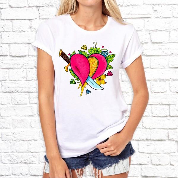 """Женская футболка Push IT с принтом """"Сердце"""""""