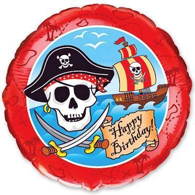 """Фольгована кулька коло пірат  18"""" Flexmetal"""