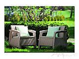 Curver Corfu Duo Set садові меблі з штучного ротанга, фото 10