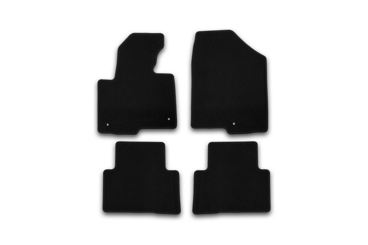 Килимки в салон ворсові для Hyundai Santa Fe АКПП 2012->, крос., 4 шт KVR01205401200k