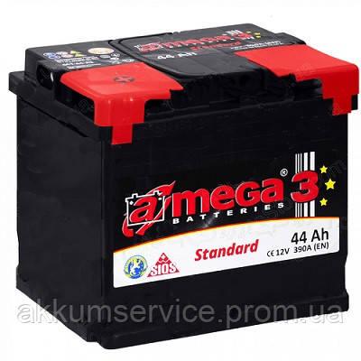 Аккумулятор автомобильный A-Mega Standart 44AH R+ 390A (M3)