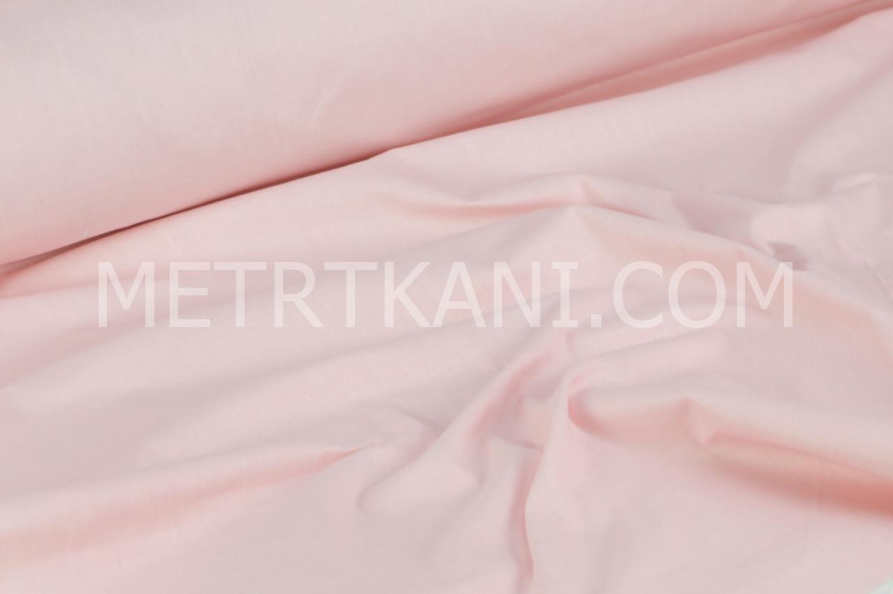 Однотонная польская бязь розово-кораллового цвета  135 г/м2  №1660