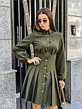 Женское платье-рубашка плиссировка (в расцветках), фото 3