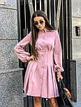 Женское платье-рубашка плиссировка (в расцветках), фото 7